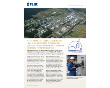 A FLIR IR Furnace Camera Watches Hydro Reformers at Refinery Complex